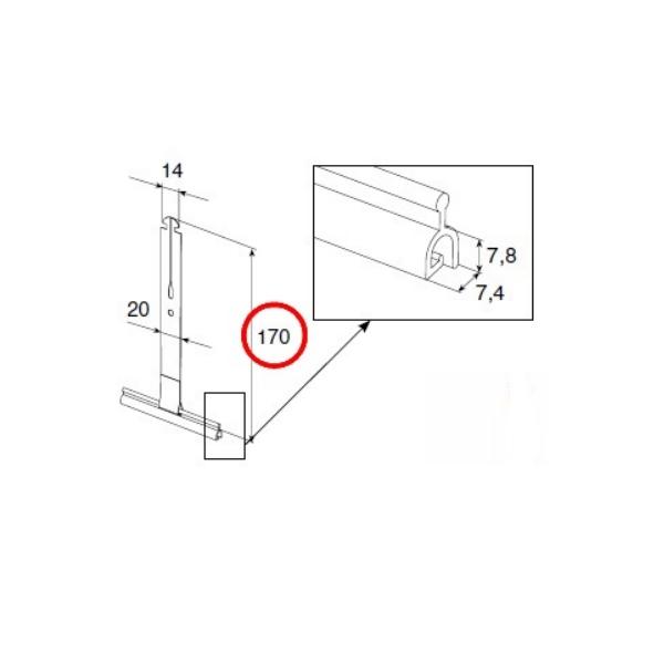Пружина тяговая для крепления полотна роллет Alutech SS1701