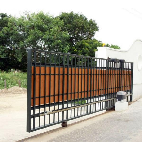 Откатные ворота на колесах для въезда